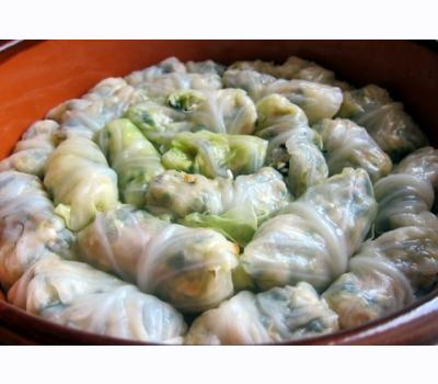 CABBAGE  LEAVES STUFFED WITH RICE